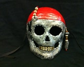Handmade and Painted Dia de los Muertos (day of the dead) Mask