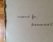 Reserved for deannarosie23 - Navy Leather Tassel Key Chain