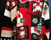 Vintage Christmas sweater -  TACKY and UGLY