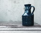 Vintage Cobalt Blue Handmade Swedish Vase