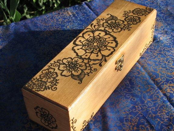 Wooden Henna Keepsake Box