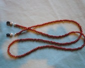 Red Jasper Gemstone Bead Eyeglass Necklace with silver-plated findings (71)