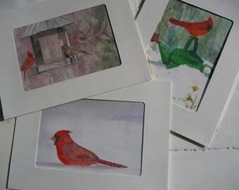 Greeting Cards - Cardinals in the Snow - original artwork