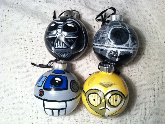 Items Similar To Star Wars Glass Ornament Set On Etsy