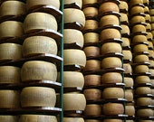 Walls of Parmesan in Parma - 11x14 fine art photography - travel photo of wheels of parmesan cheese - unisex home decor