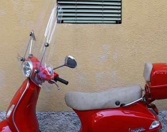 """Italy Photography, """"Red on Yellow, Italian Style"""", Travel Photography, Red Scooter, Customizable Sizing Upon Request"""