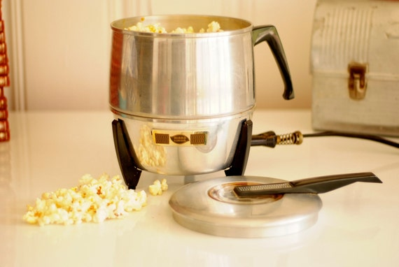 Mid Century Electric Pop Corn Popper  Mirro Aluminum