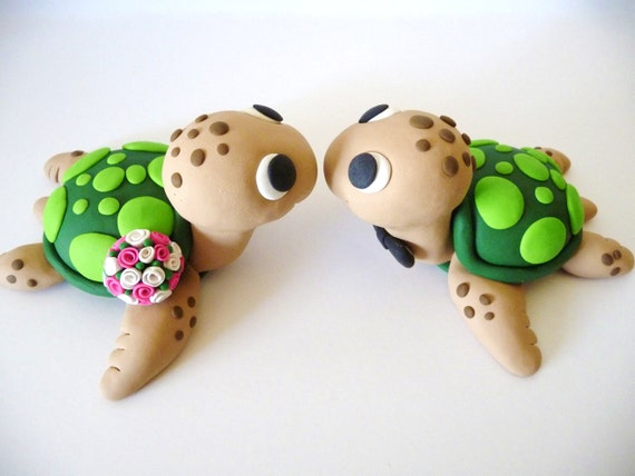 turtle wedding cake toppers sea turtles wedding cake topper choose your colors 21320