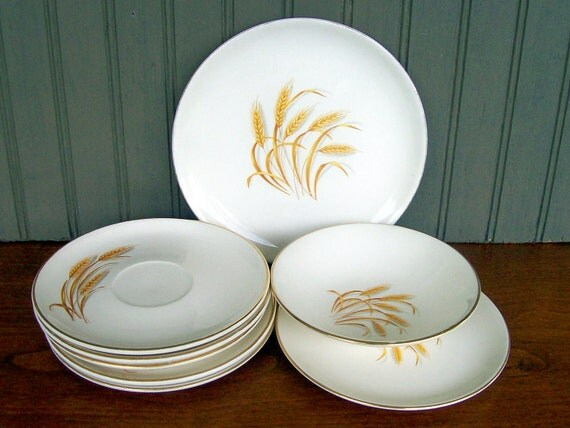 Golden Wheat Dishes: Pottery & Glass eBay
