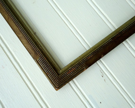 Vintage Wooden Frame Picture Wood 8 x 10 Photo Home Decor Tabletop Burled Art Deco Style Cottage Shabby Chic