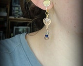Reserved for Burden 74:  Clip on Earrings, czech crystals pretty.