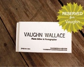 Reserved Order  for VAUGHN W.