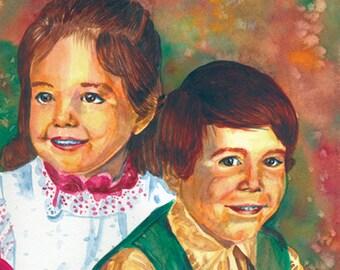 Custom 11 x 14 Watercolor Portrait