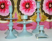 Candlestick Set Of 5 Custom Candle Holders You Pick The Color By Foo Foo La La