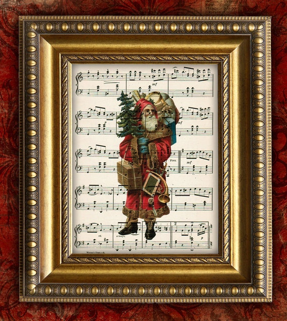 Victorian Father Christmas Decorations: Items Similar To VICTORIAN SANTA CHRISTMAS 2 Holiday Home