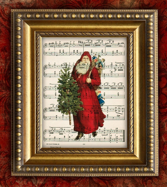 Victorian Father Christmas Decorations: Items Similar To VICTORIAN SANTA CHRISTMAS 3 Holiday Decor