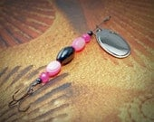 Pink and Black fishing lure
