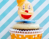 12 Large Circus Clown Cupcake Toppers