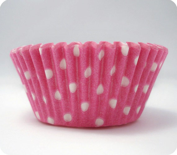 50 Light Pink Dot Cupcake Liners Greaseproof Baking Cups