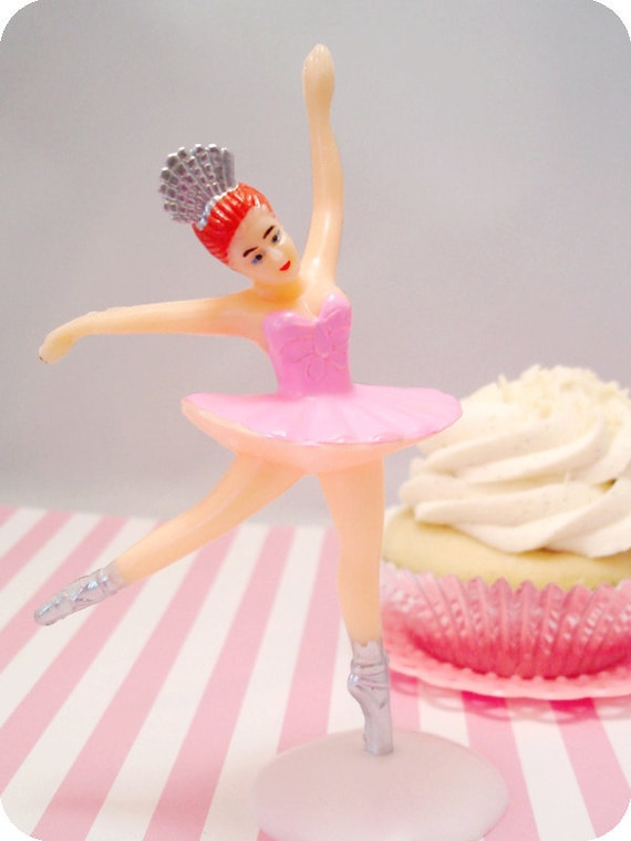 Large Pink Ballerina Cake Topper