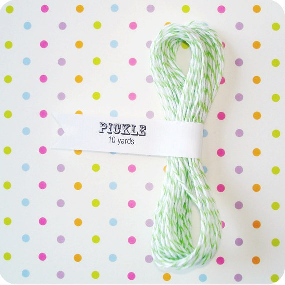 Pickle Green Divine Twine Bakers Twine - 10 Yards Green Twine