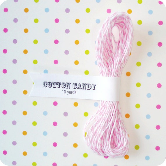 Cotton Candy Pink Divine Twine Bakers Twine - 10 Yards Pink Twine