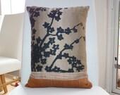 Cherry blossom cushion in autumn colours