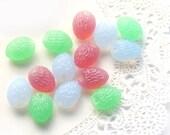 Pink, blue, mint green mix Czech Glass beads - almond shaped - spring, fresh, pastel - 12x09mm - 12Pc - 151