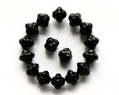 Jet black bicones czech glass beads - 6mm - 30Pc - 0282 - MayaHoney