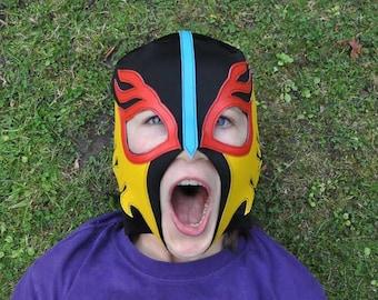 "Wrestling mask... ""Flame Mask"" halloween costume"