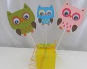Owl Birthday Party Centerpiece