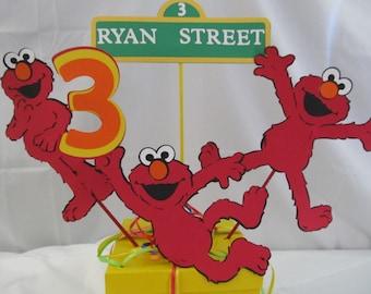 Elmo Birthday Party Centerpiece  5 pieces