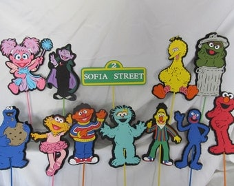 Sesame Street Party Centerpiece Character Picks