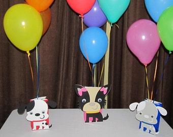 Puppy Birthday Party  Balloon Centerpieces