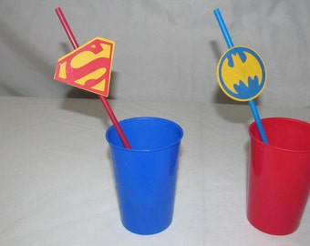 Super Hero Party Straws 10 count