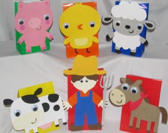 Farm/Barnyard Party Goody Bags 10 count