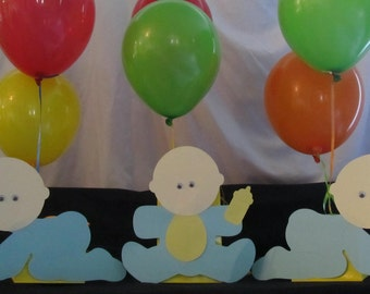 Baby Boy Shower Centerpiece