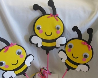 Bumble Bee Party Centerpiece Picks  3-piece