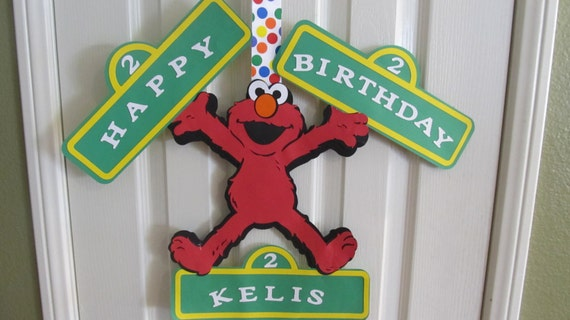 Sesame Street  Party Birthday Door Sign