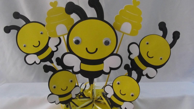 Bumble Bee Party Centerpiece 3piece By Dreamcometrueparties