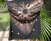 Altered  states, love to love tube top, black sun design
