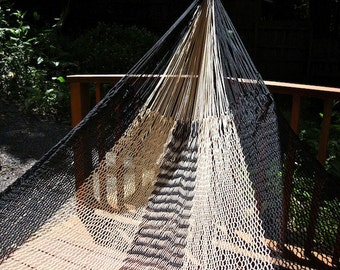black granite hammock,Double size, Hand woven Mexican hammock, 100% cotton string