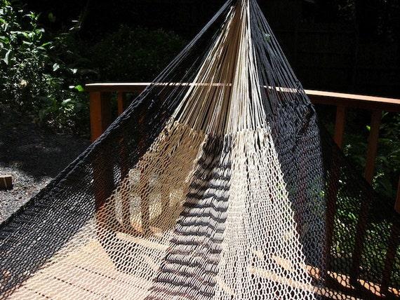 black granite hammock,Double size, Hand woven Mexican hammock, 100% cotton string