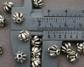 24 pcs Antique Silver Finishing Bali Beads 8mm x 8.6mm