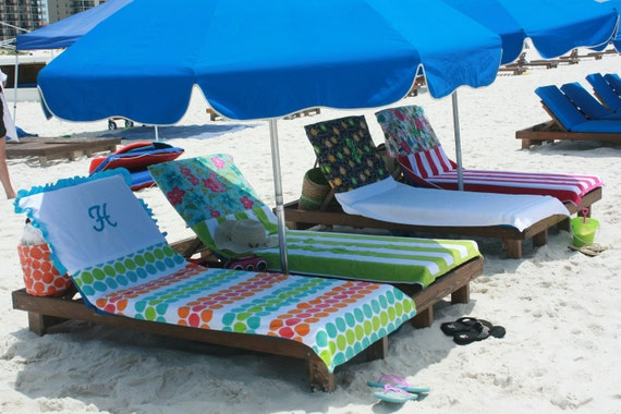 CUSTOM BEACH TOWEL-Pool Towel Personalized- A dress up for you and your chair (-: