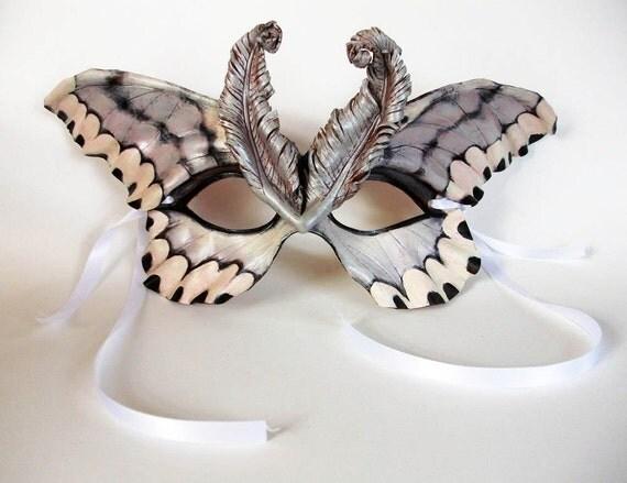 Gypsy Moth Leather Mask