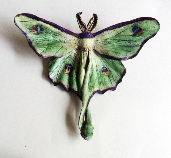Reserved for ChristinaKT - Luna Moth Pin