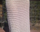 Beautiful Vintage 70's Crochet Skirt or Strapless Dress Swimsuit Cover Up size L or XL