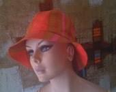 Fabulous Vintage 60's Marimekko Suomi Finland Bucket Sun Beach Hat XLNT