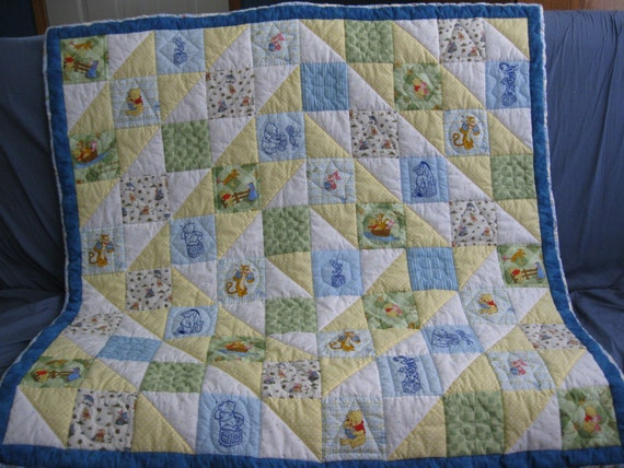 Classic Winnie The Pooh Quilt By Quiltskillz On Etsy